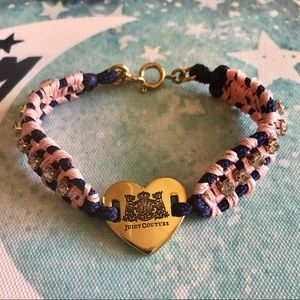 Juicy Couture Woven Gold Heart Charm Bracelet ✨